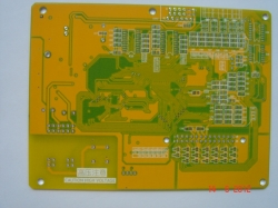 multi layers pcb with yellow soldermask